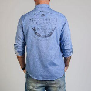 Camisa Jean Motorcycle